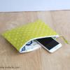 Essentials Pouch {Lime Polka Dot}