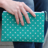 Essentials Pouch {Teal Polka Dot}
