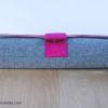 Charlie Clutch {Magenta Field} contrast stitching