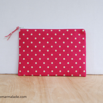 Essentials Pouch {Pink Polka Dot}