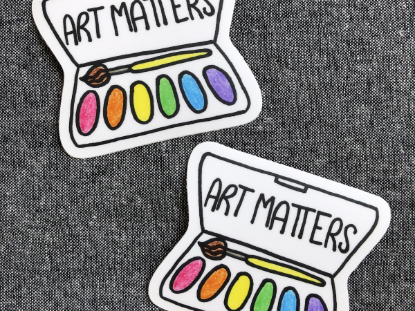Art Matters vinyl sticker
