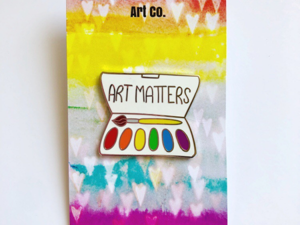 Art Matters hard enamel pin
