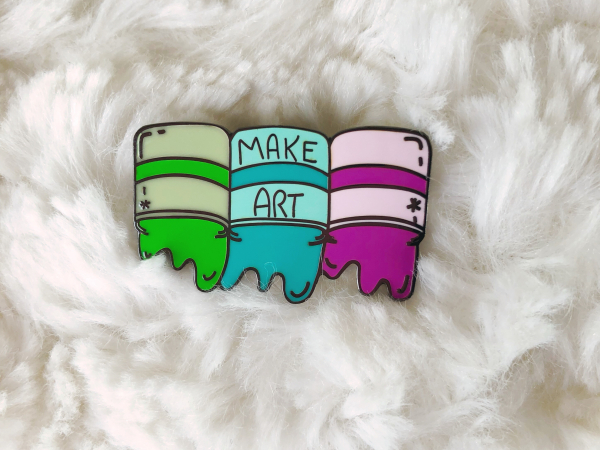 Enamel Pin {Make Art - Cold Colors}