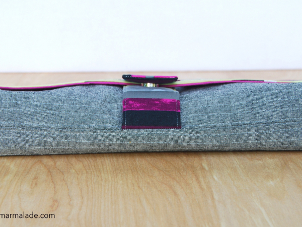 Charlie Clutch {Graffiti} contrast stitching on bottom