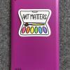 Art Matters vinyl sticker on tablet
