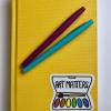 Art Matters vinyl sticker on journal