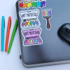 ROYGBIV Paintbrush Sticker