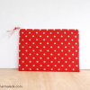 Essentials Pouch {Red Polka Dot}
