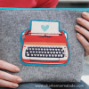 Traveler Pouch Retro Typewriter stock image