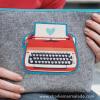 Traveler Pouch Retro Typewriter stock image