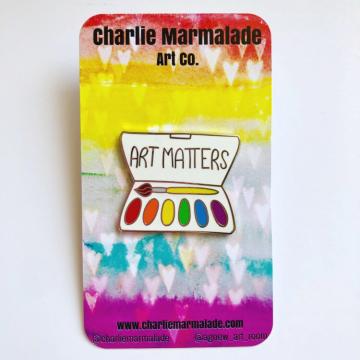 Art Matters hard enamel pin