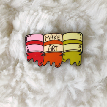 Enamel Pin {Make Art - Hot Colors}