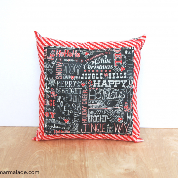 Quillow {Happy Holidays Chalkboard} front