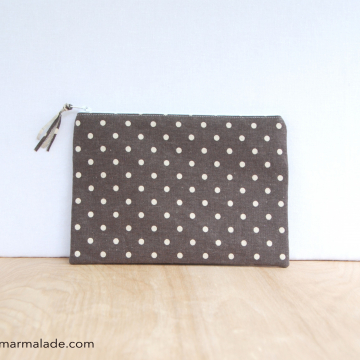 Essentials Pouch {Smoke Polka Dot}